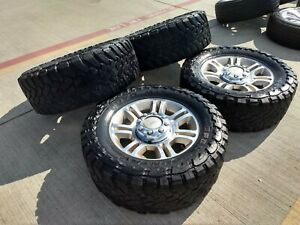 20 Ford F 250 F 350 Oem King Ranch Rims Wheels Tires 3845 2013 2014 2015 35 Mt