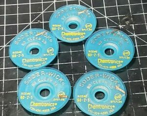 5 Rolls Size 2 Chemtronics 60 2 5 No Clean Sd Soder wick