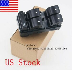 Master Power Window Switch For Chevrolet Silverado Gmc Sierra Driver Side