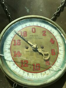 Antique Chas Forschner Sons 20 Lbs Hanging Scale New Britain Conn
