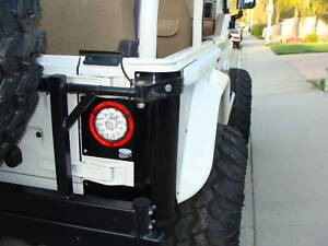 Jeep Wrangler Tj Cj Yj Cj5 Cj7 Led Tail Lights Clear Super Bright Truck Trailer