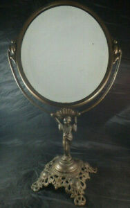 Vtg Golden Mfg Chicago Art Nouveau Style Metal Vanity Mirror 18 5 Tall