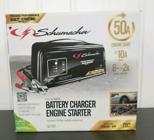 Schumacher Sc1361 Automatic Battery Charger Steel 2 10 50 Amp 12v New