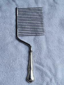 Wolfenden Sterling Silver Vintage Hair Pick Afro Comb And Original Box Rare
