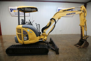 2011 Komatsu Pc35mr 3 Mini Compact Excavator 11 3 Digging Depth 29 Hp