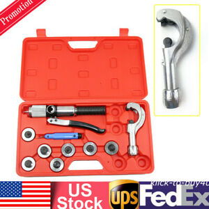 Hydraulic Tube Cutter Expander 7 Lever Tubing Expanding Swaging Kit Hvac Tool