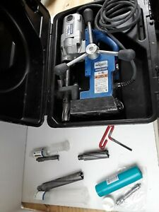 Hougen Hmd904 Portable Magnetic Drill W 5 Tct Annular Bits Lightly Used