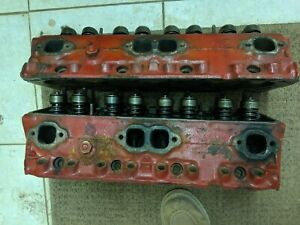 Sbc Pair Of 70 3947041 Small Block Chevy Cylinder Heads 041 Hp Fulie 64 Cc