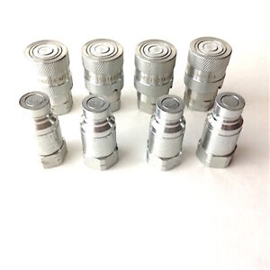 1 4 Npt Iso 16028 Ff Coupling Hydraulic Quick Disconnect Sms ff 04 4 Sets