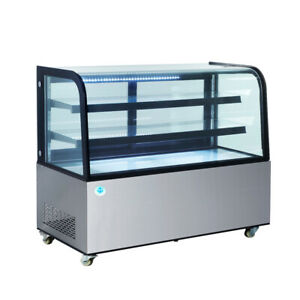 60 In Curved Glass Stainless Steel Refrigerated Bakery Display Case