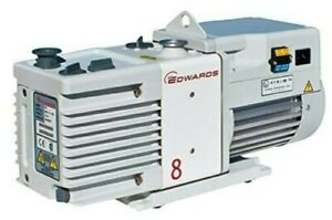 Edwards Rv8 Two Stage Rotary Vane Vacuum Pump 110v Or 220 240v
