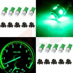 10x Green Led Instrument Panel Dash Light Bulb W 5 8 Twist Lock Wedge Sockets