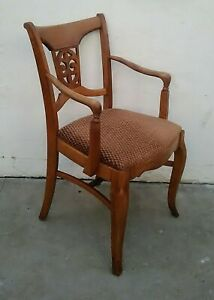 Set 6 Vintage Country French Provincial Dining Chairs Walnut Phoenix Furniture