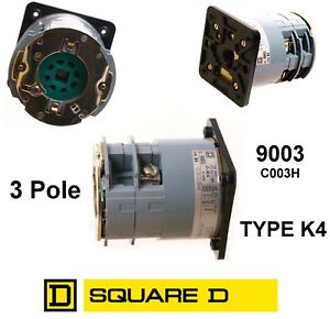 Square D Rotary Switch Body 3 Pole 9003 C003h Type K4 Power Disconnect