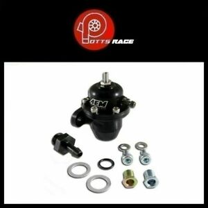 Aem 25 301bk Fits Acura Honda Adjustable Fuel Pressure Regulator Black