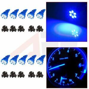 10pcs Blue T10 194 Led Bulbs Instrument Gauge Cluster Dash Light 5 8 Sockets