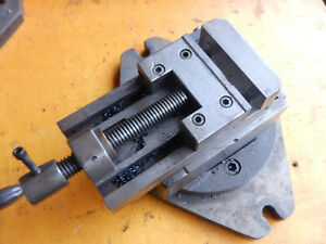 Wesson Compound Grinding Mill Vise With Swivel Base Machinist Tooling Lot Mx79