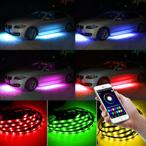 Phone Control Rgb Led Car Chassis Atmosphere Lam Under Underbody Neon Light