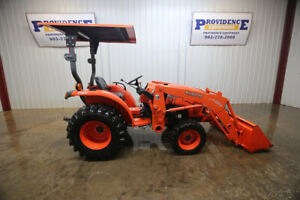 2012 Kubota L3200 Tractor Open Rops Canopy Quick Attach W pin On Bucket