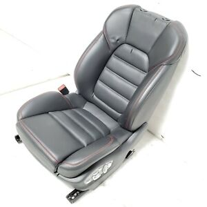 2017 Porsche Macan Front Left Red stitched Perforated Leather Drivers Seat Oem