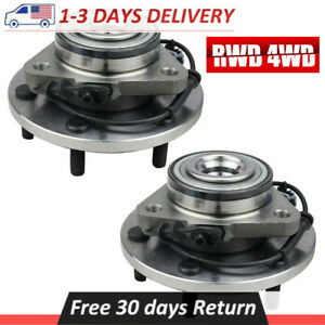 Pair 2 Front Wheel Hub Bearing Assembly For Nissan Titan Infiniti With Abs