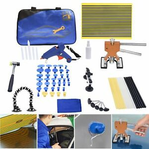 71pc Paintless Dent Repair Removal Tool Pdr Puller Lifter Line Board Hammer Kit