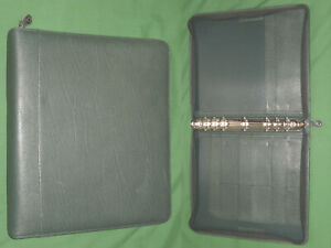 Monarch 1 25 Green Top Grain Leather Franklin Covey Planner Binder 6074