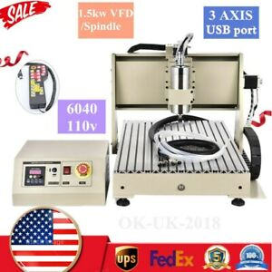 1500w 3 Axis Desktop Cnc Router 6040 Kit Pcb Milling Carving Engraving Machine