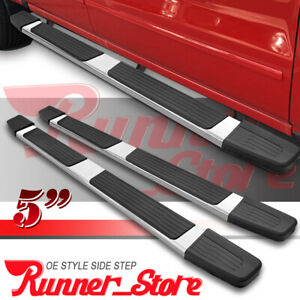 Fit 09 14 Ford F150 Super Crew Cab 5 Running Board Side Step Nerf Bar Chrome S
