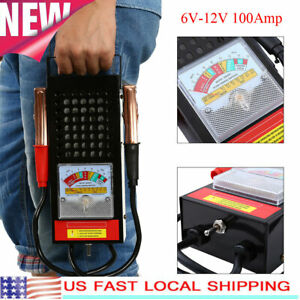 6v 12v 100amp Car Van Auto Battery Load Drop And Charging System Tester Checker