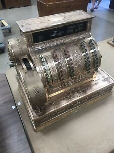 Late 1800 S Model 92 Antique Brass National Cash Register