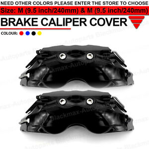4x 240mm Auto Disc Brake 3d Car Parts Caliper Cover Kit Front Rear Bk Universal