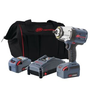 Impact Wrench 1 2in Iqv20 High Torque 2 bat Kit Ingersoll rand Irtw7152k22