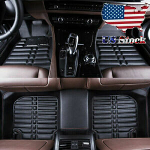 For Honda civic 2007 2018 Leather Floor Mats Waterproof Matsall weather Carpet
