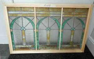 Antique Stained Leaded Glass Window Architectural Design R 109