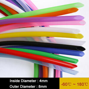 Food Grade Silicone Flexible Tube 4mm Id X 8mm Od For Beer Coffee Water 6 colors