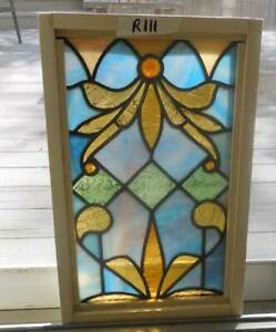 Antique American Stained Leaded Window Small Accent Window R 11
