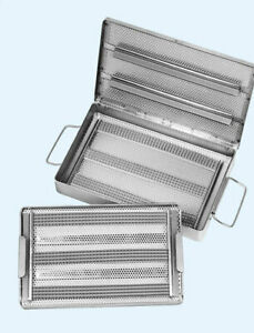Micro Instrument Surgical Sterilization Tray Double Case As1143dc 10 5x20x2 5