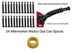 24 New Gas Can Spouts Wedco Aftermarket Briggs Diesel Kerosene Water Dealer Pack