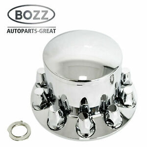 Chrome Plastic Rear Axle Cover W Removable Hub Caps 33mm Thread on Nut Cover