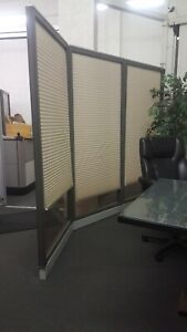 Haworth Brand Office Partition System Glass Wall Panels