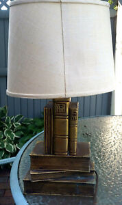 Antique Stack 0f Book Table Lamp