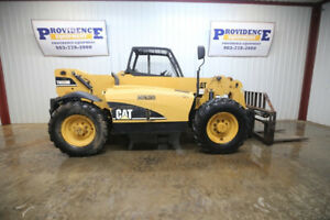 Cat Th350b 4x4 Telescoping Forklift Open Rops 99hp Front Aux Hyd Crab