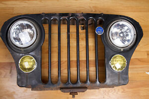 Vintage Jeep Cj7 Grille Wallhanger With Remote Control Lights