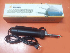 Ac 220v Automatic Electric Desoldering Pump Vacuum Solder Sucker Iron Gun 30w