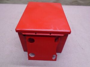 New 8 X 6 X 5 Electrical Enclosure Hinged Red Weatherproof W Mounting Bracket