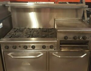 Serviced 6 Burner 60 Range 24 Raised Grill Cpg S60 gs24 n Natural Gas 2 Oven