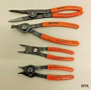 Blue Point 4pc Lot Snap Ring Retaining Ring Pliers