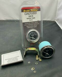 Vintage Nos 2 Chrome Electric Water Temperature Temp Gauge 100 280 Chevy Gm Usa