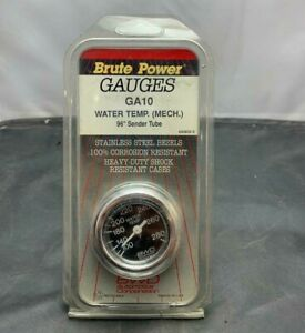 Vintage Nos 2 Mechanical Water Temperature Temp Gauge 100 280 Chevy Gm Ford